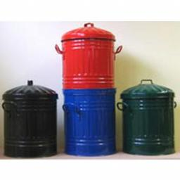 Feed Bins Mini Bin Normal Lid Powder Coated