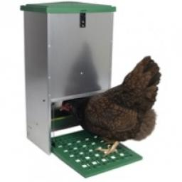 Galvanised Treddle Poultry Feeder