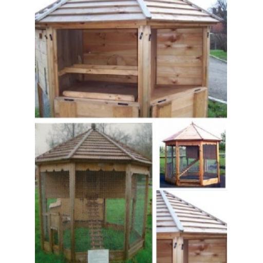 Octagonal Garden Hen House Large