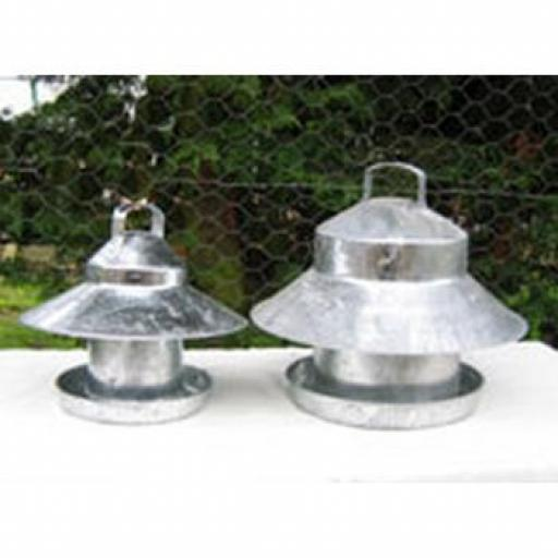 Galvanised Outdoor Poultry Feeders with Top
