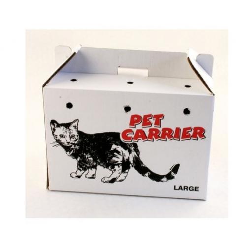 Printed cardboard pet carry box