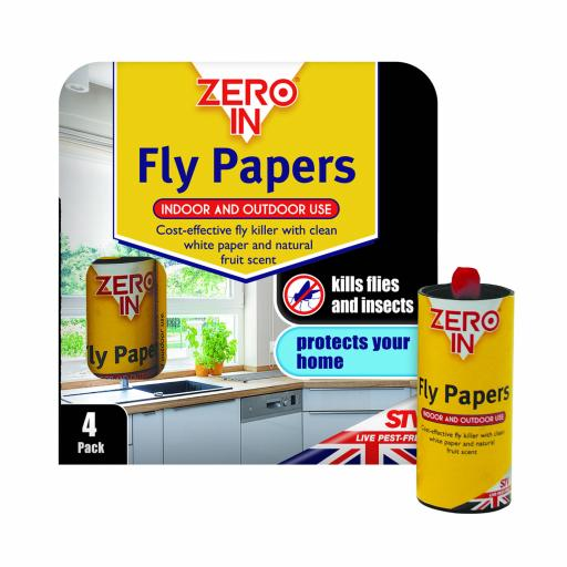 Fly papers - Zero In (4 pack)