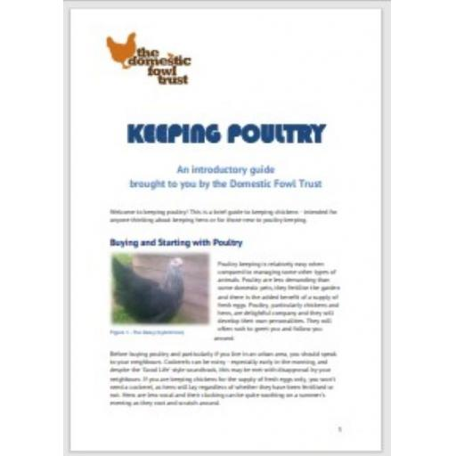 Caring for your poultry booklet (e-download)